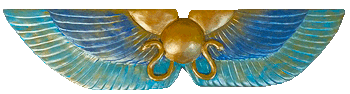 Winged Disc Blue and Gold