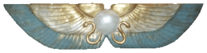 Winged Disc Leprechaun Green, Gold and Pearl
