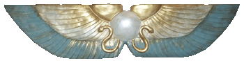 Winged Disc Nile Green,Pearl and Gold