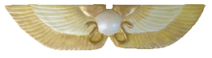 Winged Disc-Yellow,Gold and Pearl